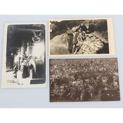Trīs dažādas fotogrāfijas