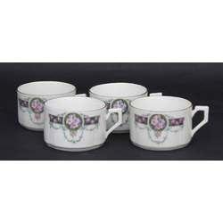 Porcelāna tasītes  (4 gab)