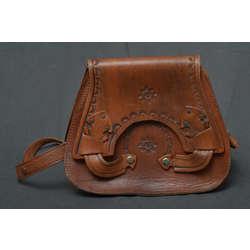 Ādas sieviešu rokas somiņa