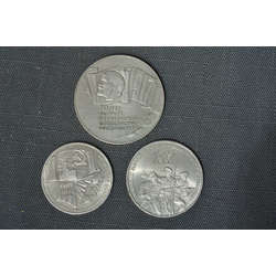 70 gadu PSRS jubilejas monētas 3 gab.