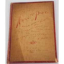 Grāmata vācu valodā ''Adelina Patti'