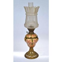 Jūgendstila petrolejas lampa ar kupolu Tulpe