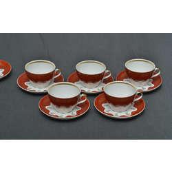 Tējas servīze piecām personām