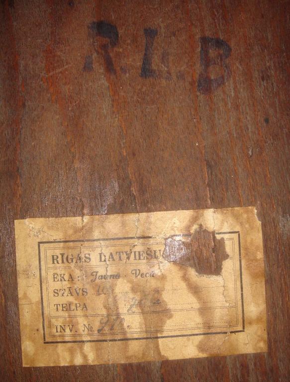 Krēsli ar 'Latviešu biedrības simboliku 5 gab