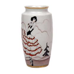 """Porcelāna vāze """"Flamenko dejotāja"""""""
